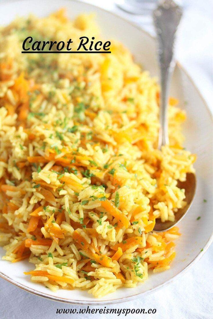 carrot rice, Carrot Rice