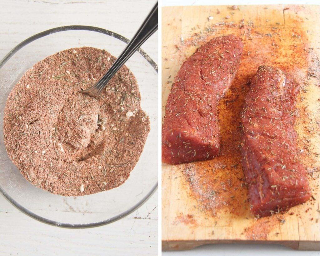 spice mixture for rubbing pork
