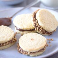 argentinian alfajores on a white plate