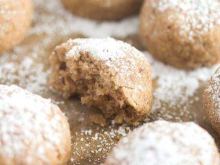 spanish polvorones cookies sprinkled with icing sugar