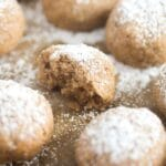 crumbly round pastries on baking paper