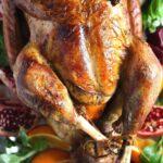 whole roasted turkey close up