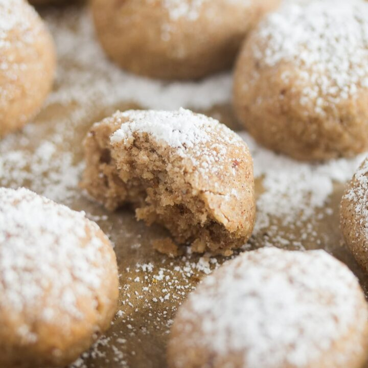 spanish polvoron cookie with ground almonds and lemon