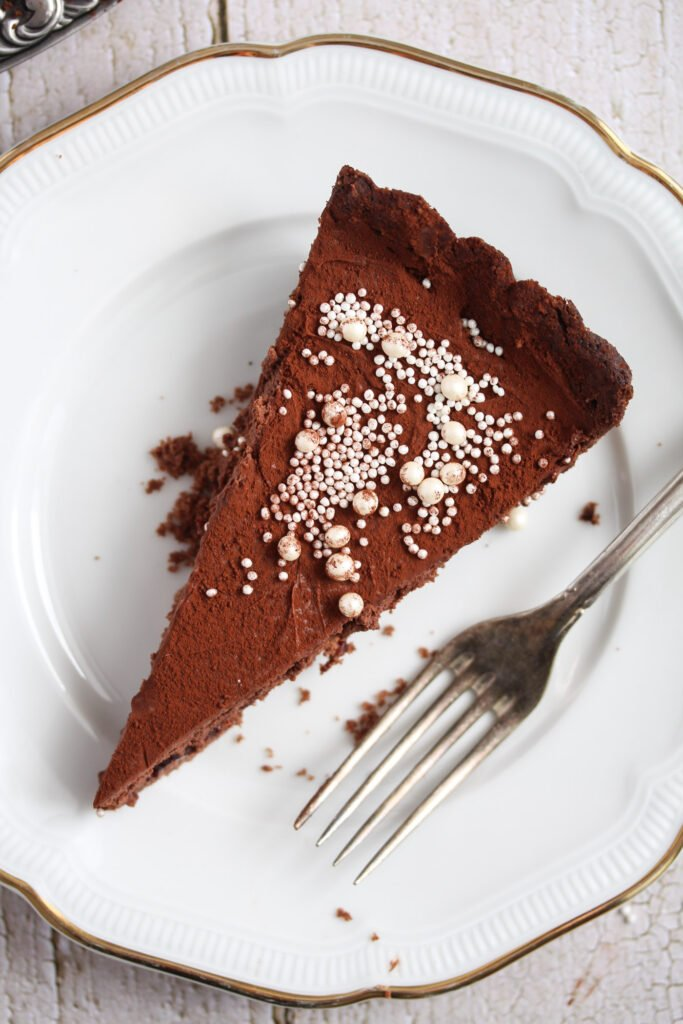 slice of chocolate torte made with bailey's.
