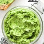 whipped butter with herbs.