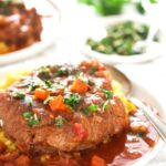 pinterest image for ossobuco with the title above the image.