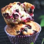 pinterst image of two stapled muffins, title written above.