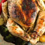 pinterest image of a crispy chicken.
